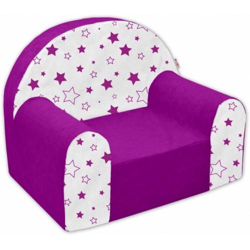 Detské kresielko / pohovečka Nellys ® - Magic star - fialové