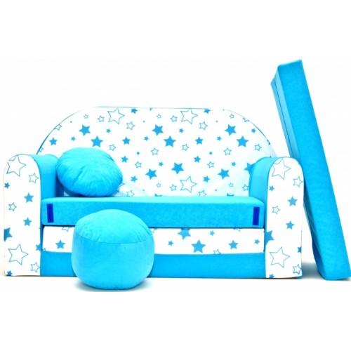 Rozkladacia detská pohovka Nellys ® 85R - Magic stars - modré