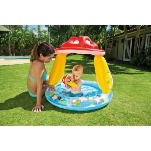Teddies Bazén nafukovací baby muchotrávka 102x89cm od 1-3 rokov