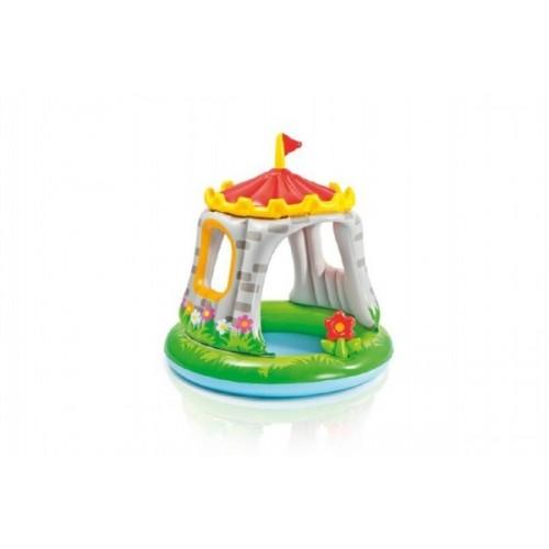 Teddies Bazén nafukovací baby hrad 122x122cm od 1-3 rokov