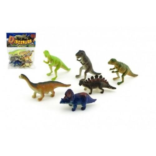 Teddies Dinosaurus plast 6ks v sáčku 14x19x3cm