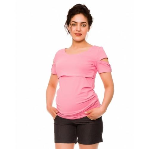 Be MaaMaa Tehotenské kraťasy Jeans Crush - černé, vel´. M - M (38)