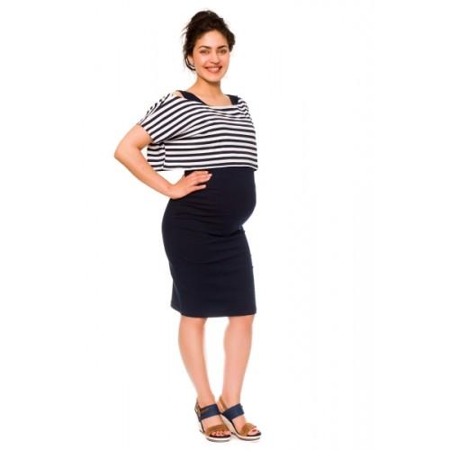 Be MaaMaa 2-dielne tehotenské/dojčiace šaty Sia - granát, vel´. XL - XL (42)