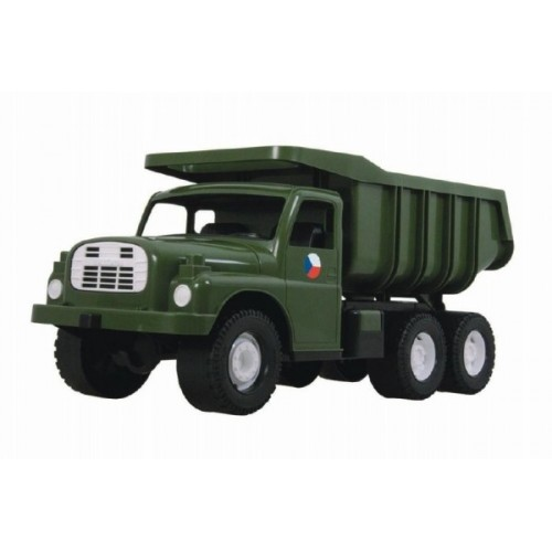 Teddies Auto Tatra 148 plast 73cm v krabici - khaki vojenská.