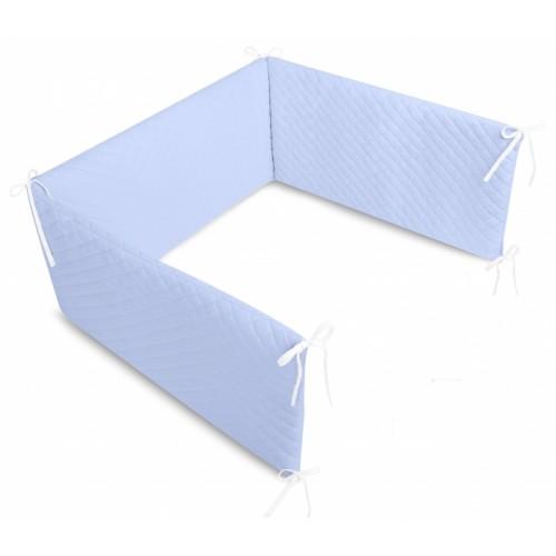 Mantinel do postieľky Velvet lux Miminu, prešívaný - modrý - 120x60
