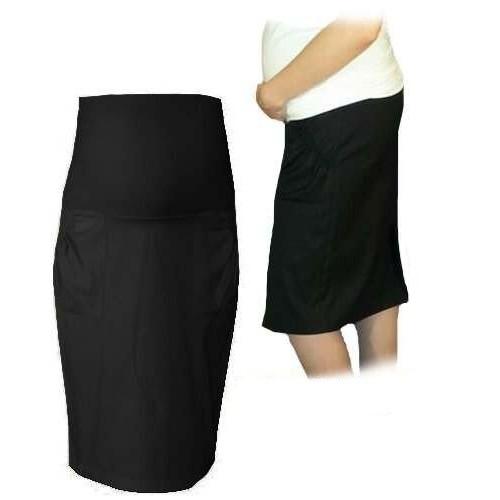 Be MaaMaa Tehotenská športová sukňa s vreckami - čierna, vel´. L - L (40)