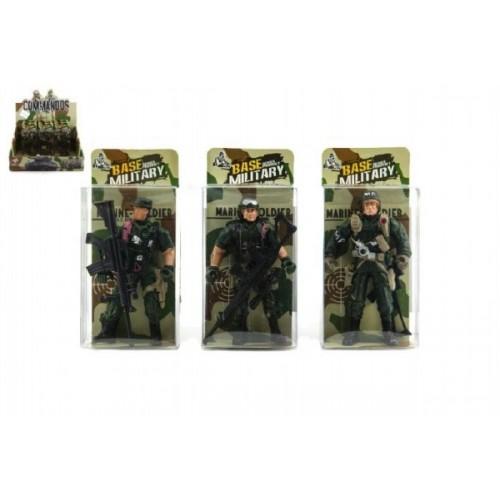 Teddies Vojak figúrka plast 10cm asst v krabičke 24ks v boxe