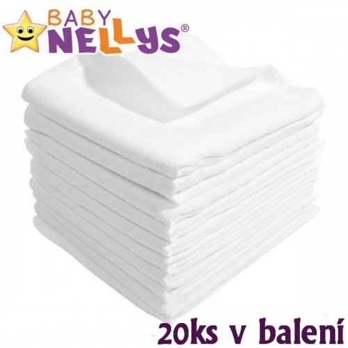 Kvalitné bavlnené plienky Baby Nellys - TETRA BASIC 70x80cm, 20ks v bal.