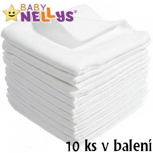 Kvalitné bavlnené plienky Baby Nellys - TETRA BASIC 80x80cm, 10 ks v bal.