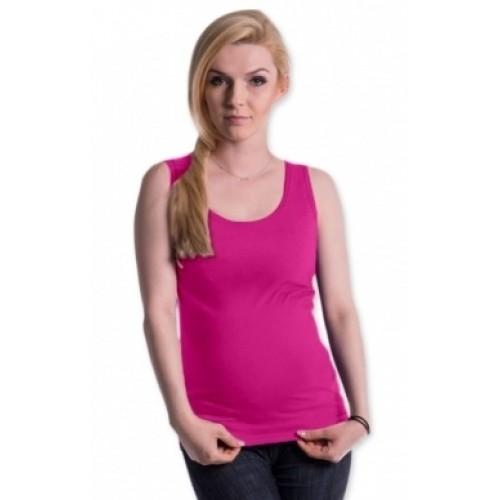 Be MaaMaa Tehotenské, dojčiace tielko s odnímateľnými ramienkami - ružové - S/M