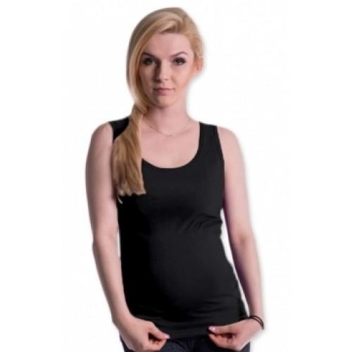 Be MaaMaa Tehotenské, dojčiace tielko s odnímateľnými ramienkami - čierne - S/M
