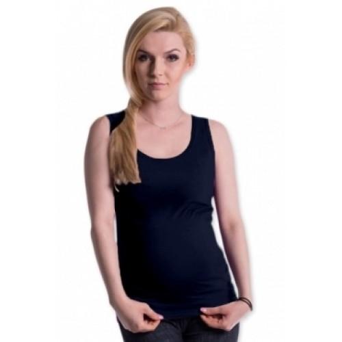 Be MaaMaa Tehotenské, dojčiace tielko s odnímateľnými ramienkami - navy - S/M