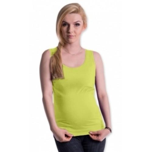 Be MaaMaa Tehotenské, dojčiace tielko s odnímateľnými ramienkami - limetka, vel´. L/XL - L/XL