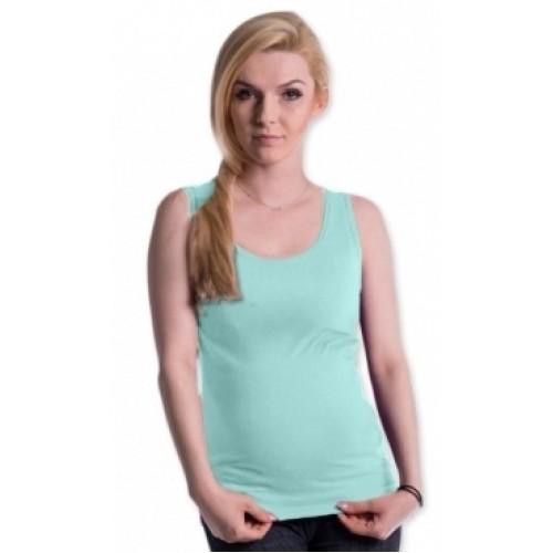 Be MaaMaa Tehotenské, dojčiace tielko s odnímateľnými ramienkami - mátové, vel´. L/XL - L/XL