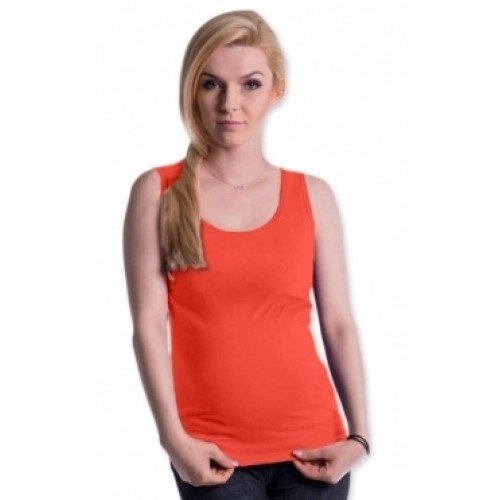 Be MaaMaa Tehotenské, dojčiace tielko s odnímateľnými ramienkami - pomeranč, vel´. L/XL - L/XL