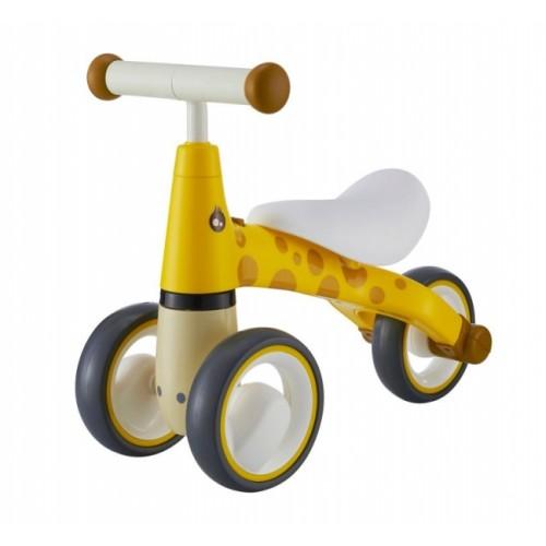 Odrážadlo / trojkolka Eco Toys, Žirafka - žltá