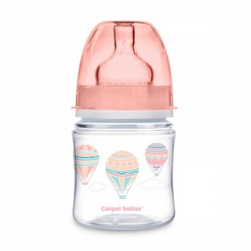 Canpol babies Antikoliková fľaštička120 ml Lietajúci balón - ružova