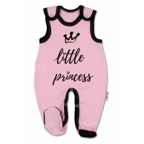 Baby Nellys Dojčenské bavlnené dupačky, ružové - Little Princess - 56 (1-2m)