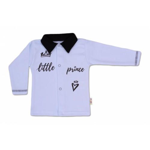 Baby Nellys Bavlnená košieľka Little Prince - modrá - 56 (1-2m)