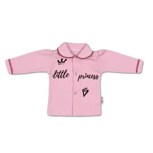 Baby Nellys Bavlnená košieľka Little Princess - růžová, veľ. 62 - 62 (2-3m)
