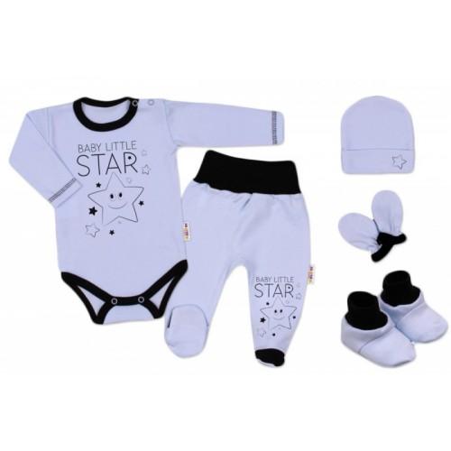 Baby Nellys Súpravička do pôrodnice Baby Little Star - modrá, K19 - 56 (1-2m)