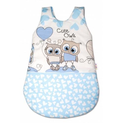 Baby Nellys Spacie vak Cute Owls - modrý