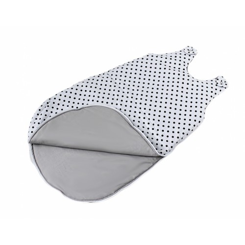 Baby Nellys Bavlnený spací vak Bodky na bielom, 48x80cm
