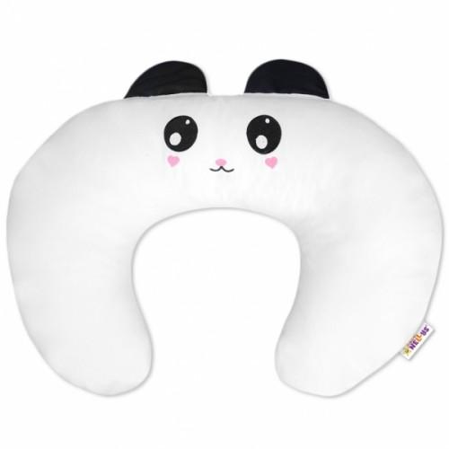 Baby Nellys Dojčiace vankúš/podkova s uškami - Panda