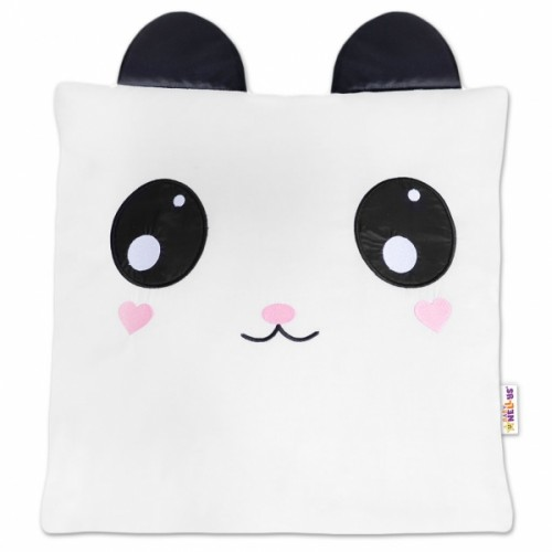Baby Nellys Dekoračný vankúšik s uškami - Panda