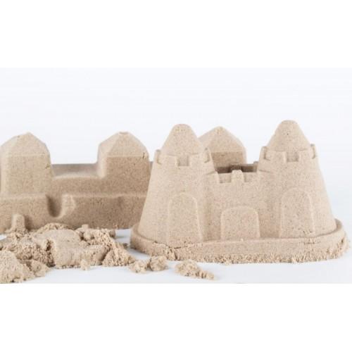 Adam Toys, Kinetický piesok - prírodný - 2kg + formičky zadarmo