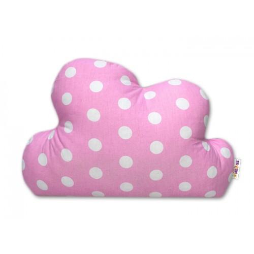 Baby Nellys Dekoračný vankúšik - Bubble růžový