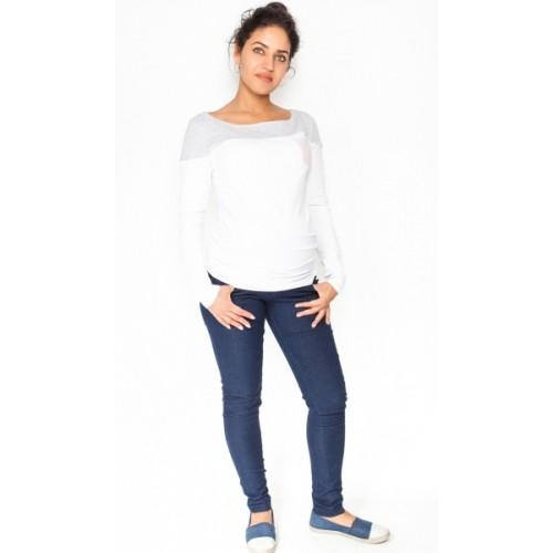 Be MaaMaa Tehotenské nohavice / jeans Rosa - granátové, veľ. L - L (40)