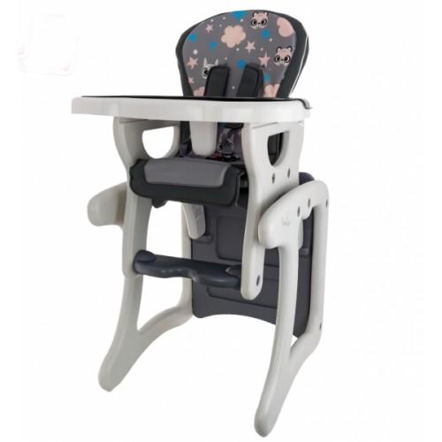 Euro Baby Jedálenský stolček 2v1 - Veverička v šědé